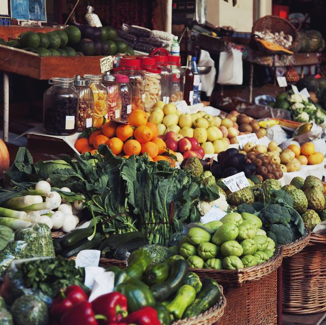 fruits and vegetables at the farmers market