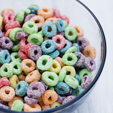 Fruity Cereal Close Up