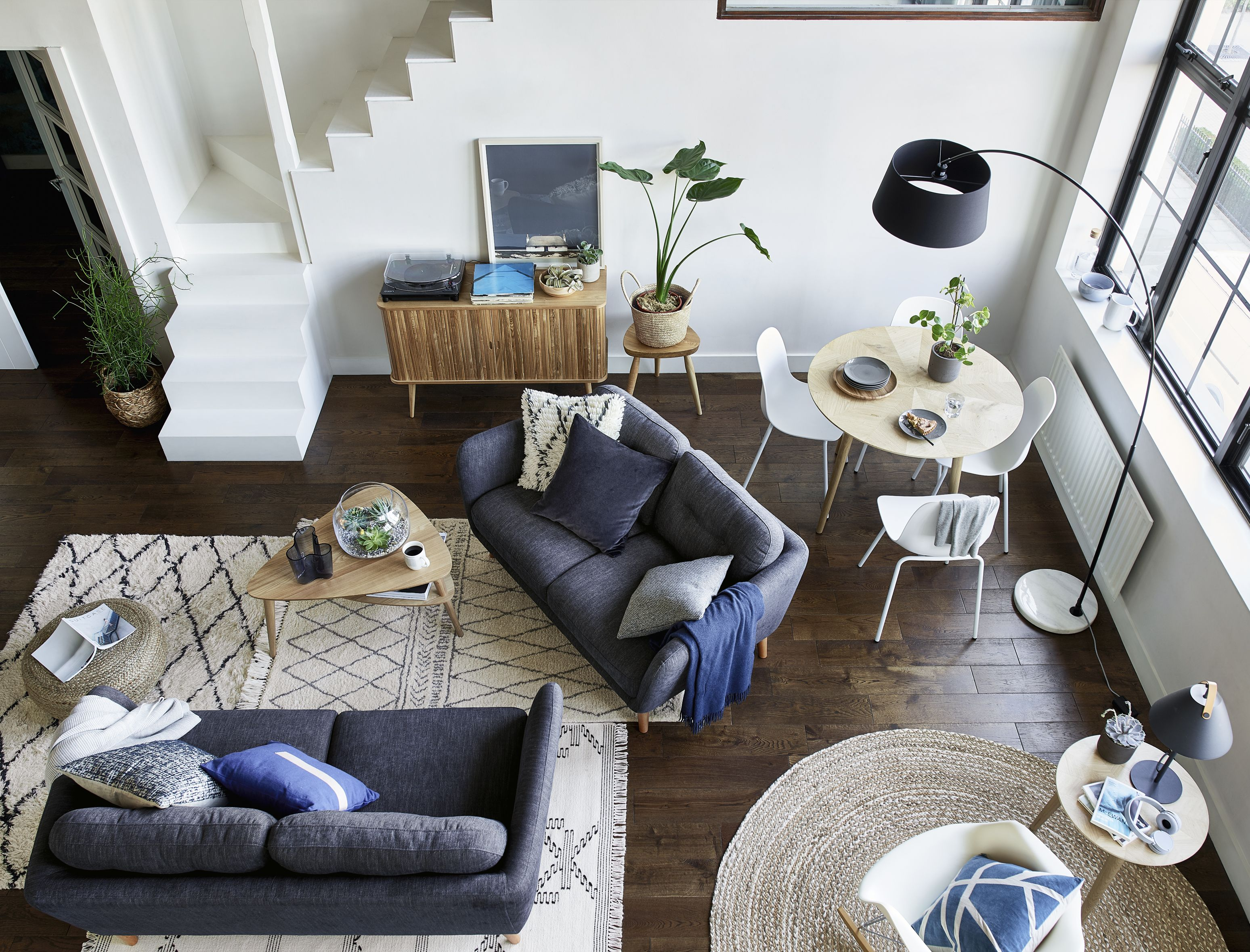 How to create subtle zones in a small living room