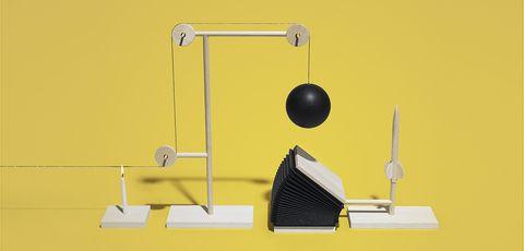 Yellow, Executive toy, Desk,