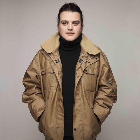 Clothing, Jacket, Outerwear, Parka, Coat, Khaki, Sleeve, Fashion, Hood, Beige,