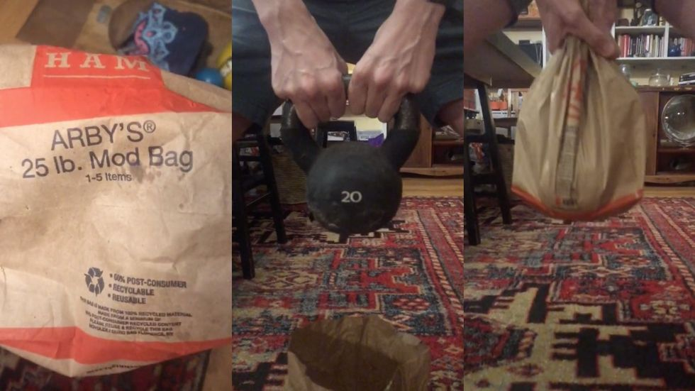 A TikTok User Discovered That Arby's Takeout Bags Can Carry Up to 25 Pounds thumbnail
