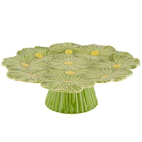 Menaje: Fuente con pie de flores