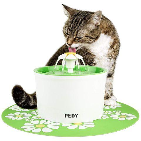 Fuente de agua para mascotas con forma de margarita