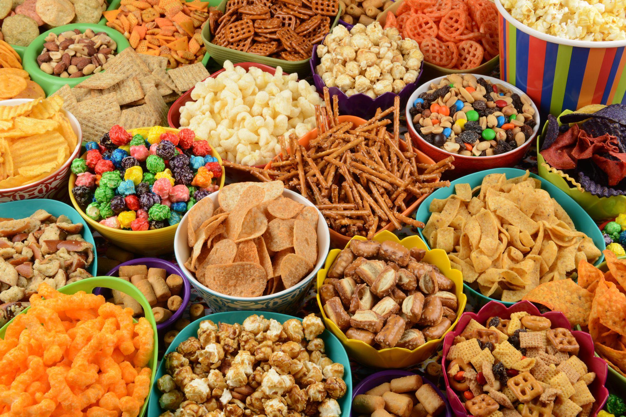 unhealthy & healthy foods