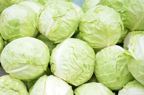 full frame shot of cabbages for sale at market