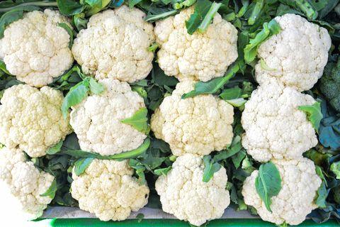 Full Frame Shot Of Cauliflowers For Sale At Market