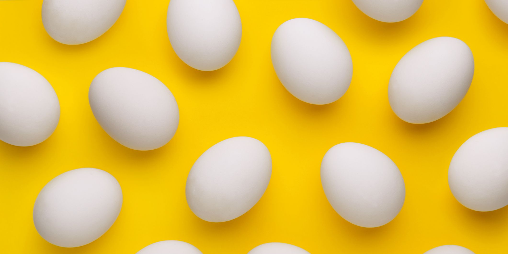 Full Frame Shot Of Eggs On Yellow Background