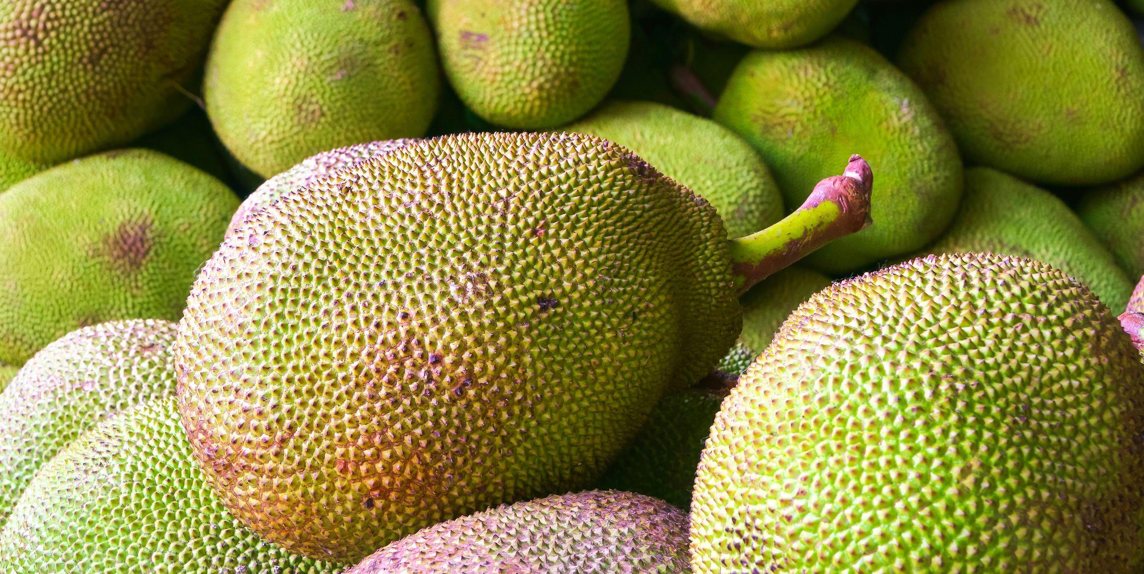 Full Frame Shot Of Jackfruits For Sale At Market