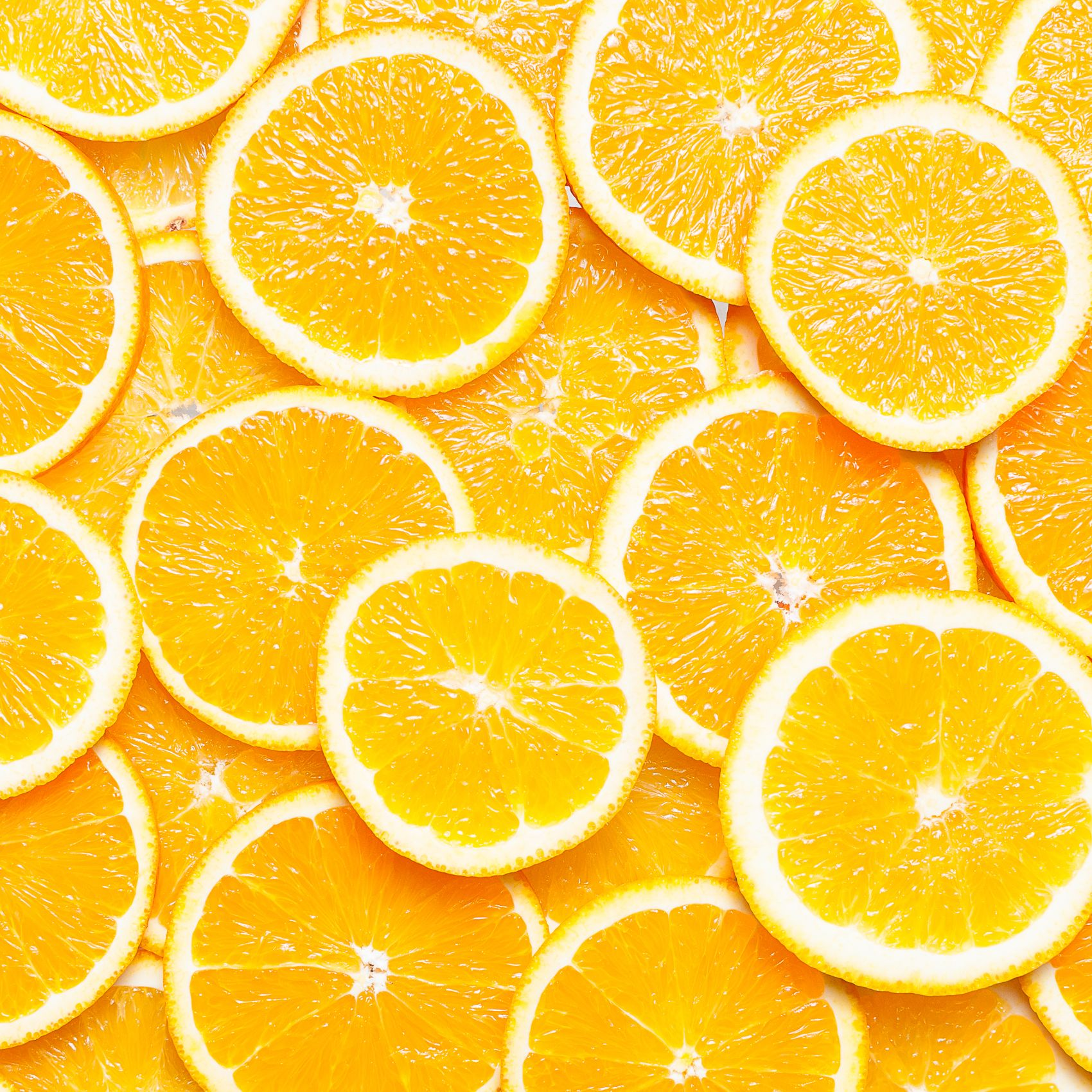 Full Frame Shot Of Orange Slices