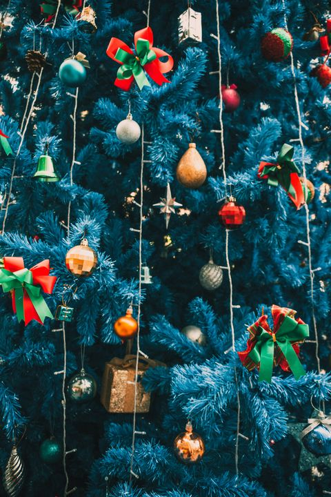 full frame shot of pine tree decorations in christmas day, nuremberg city,germany, europe
