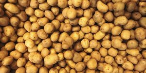 Full Frame Shot Of Potatoes At Market