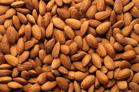 Full Frame Shot Of Raw Almonds