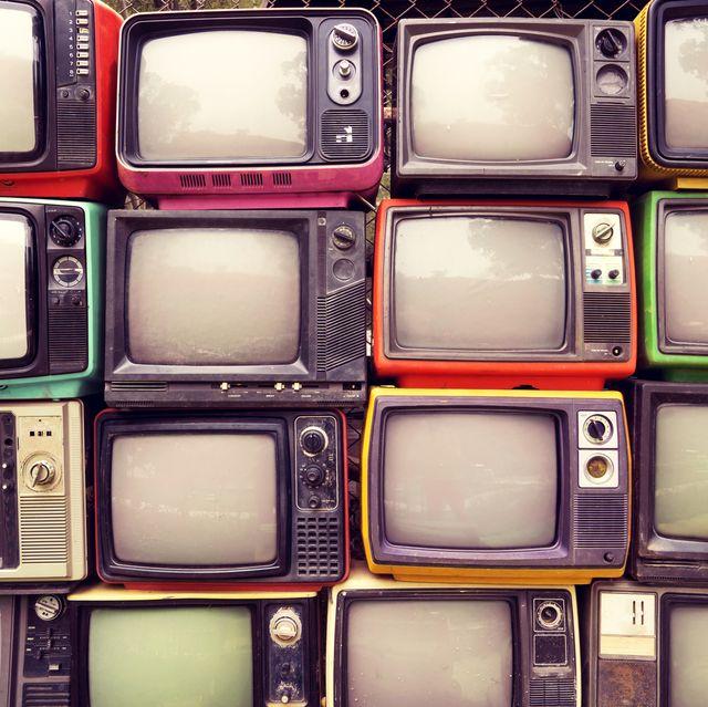 full frame shot of television set
