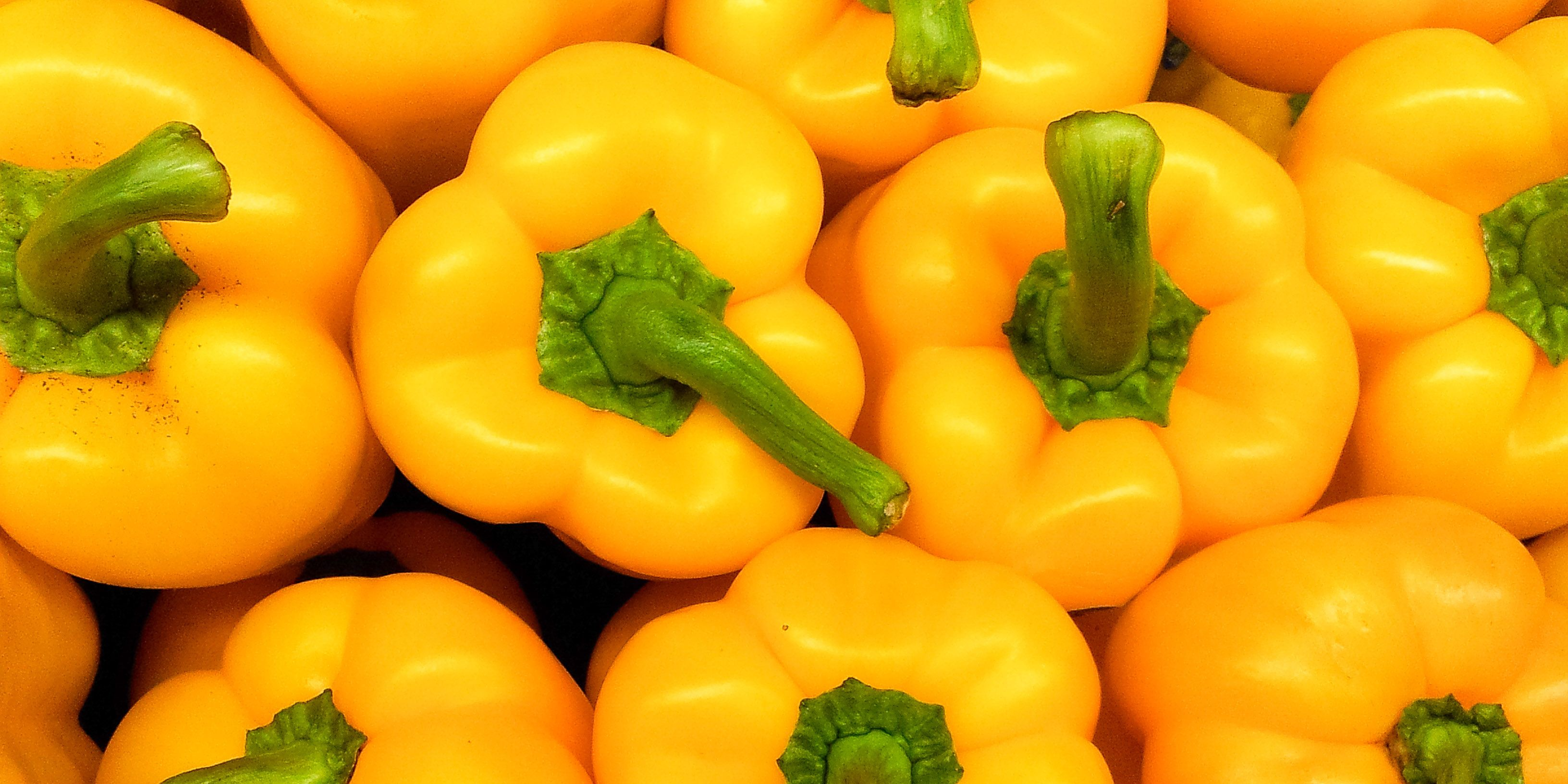Full Frame Shot Of Yellow Bell Peppers