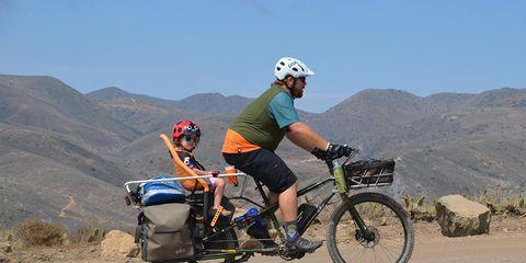 kerry waldman e-bike cargo bikepacking catalina island