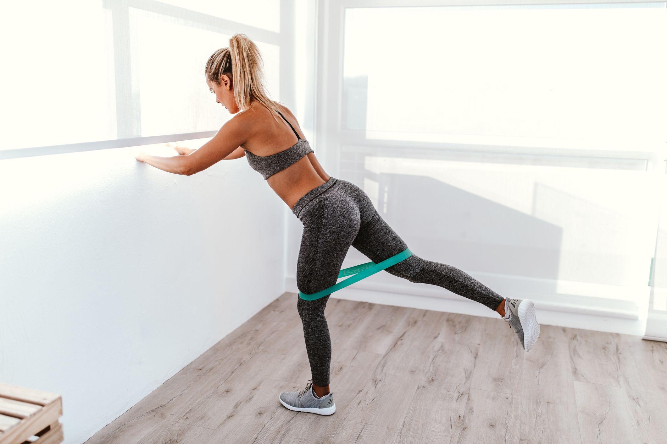 Ejercicios piernas gomas elasticas