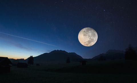 Full moon, Karwendel, Bavaria, Germany
