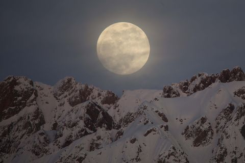 full moon rises over turkey's hakkari