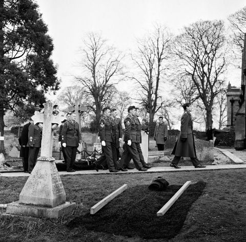 Sir Winston Churchill Funeral Rehearsal at Bladon