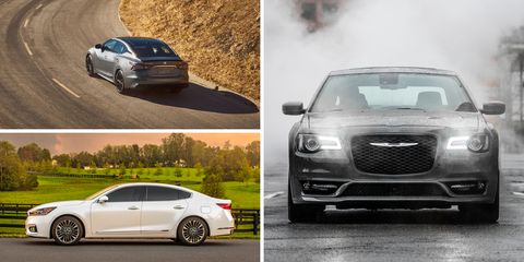 Every Full Size Sedan Ranked From Worst To Best