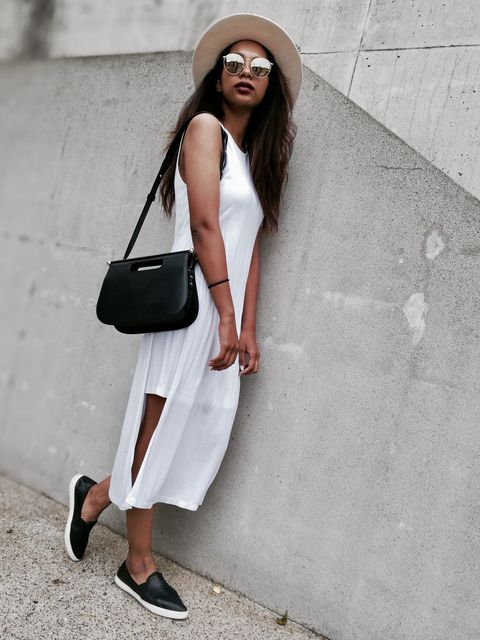 White, Clothing, Street fashion, Shoulder, Black-and-white, Fashion, Snapshot, Footwear, Shoe, Outerwear,