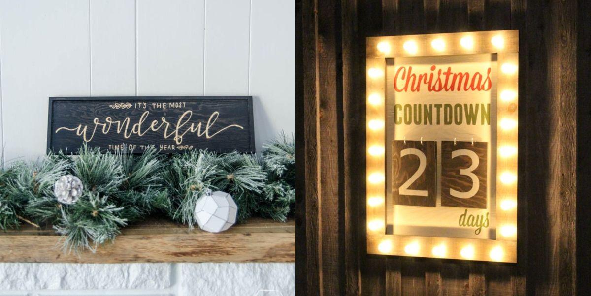 20 Best Diy Christmas Signs Christmas Sign Ideas