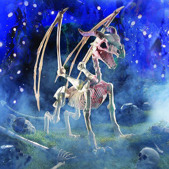 fun express dragon skeleton halloween decoration