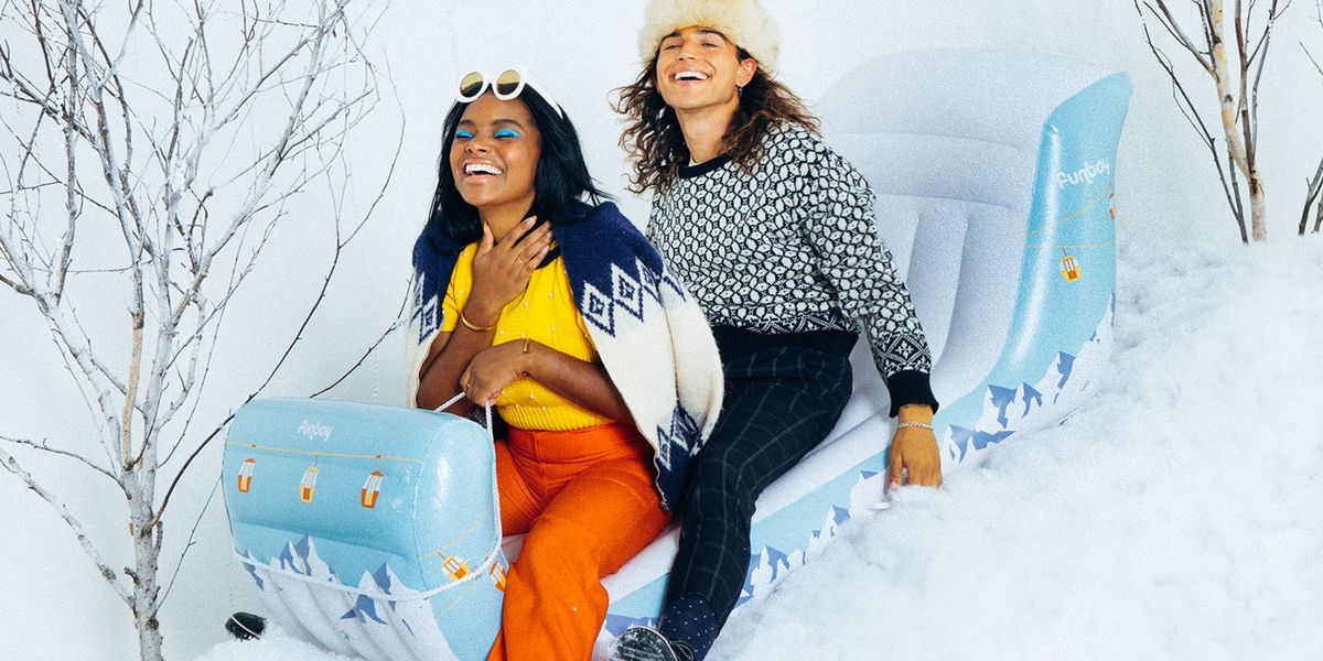Funboy's New Inflatable Winter Sleds Will Have You Wishing for a Snow Day