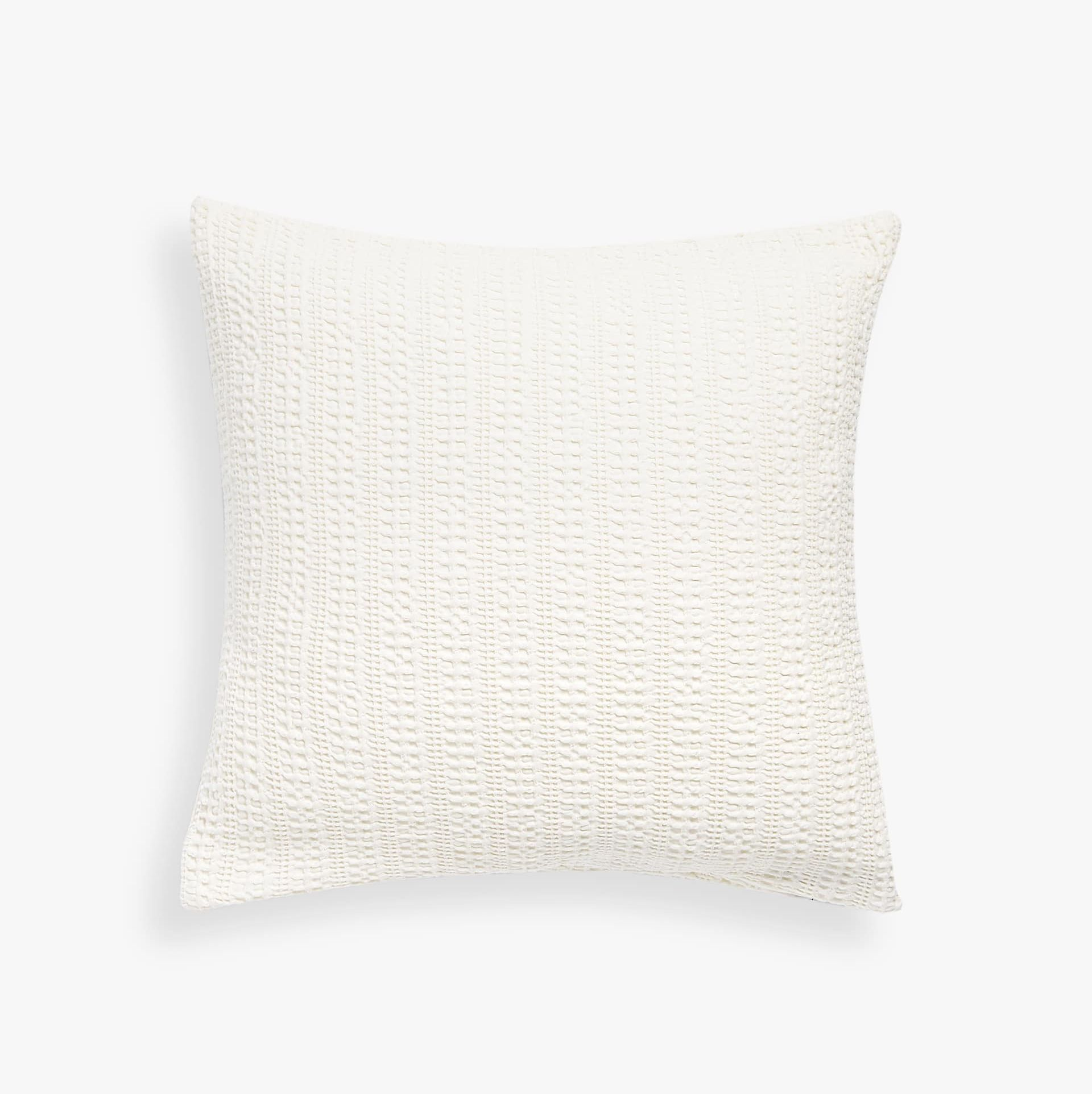 Cojín de rayas de algodón blanco