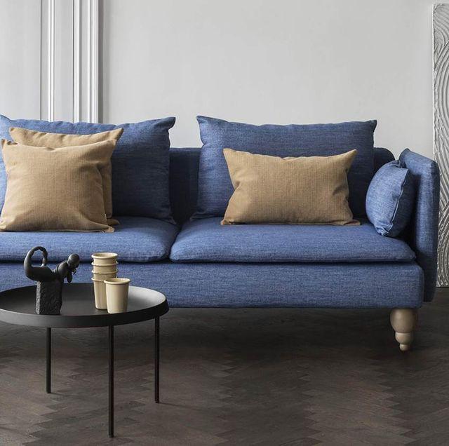 Funda de lino en sofá SÖDERHAMN de IKEA