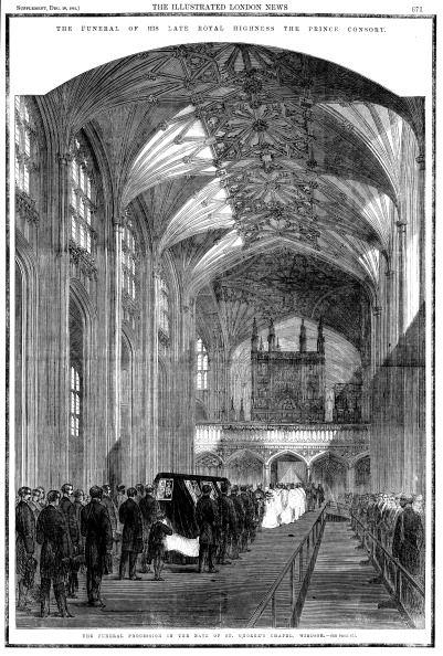 Funeral of Albert (1819-1861), Prince Consort of Queen Victoria, 1861.