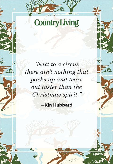 funny christmas quote from kin hubbard about christmas and the circus