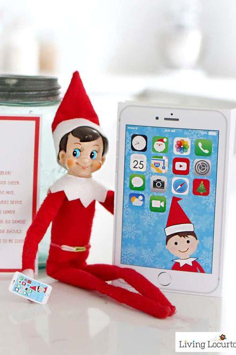 funny elf on the shelf ideas phone