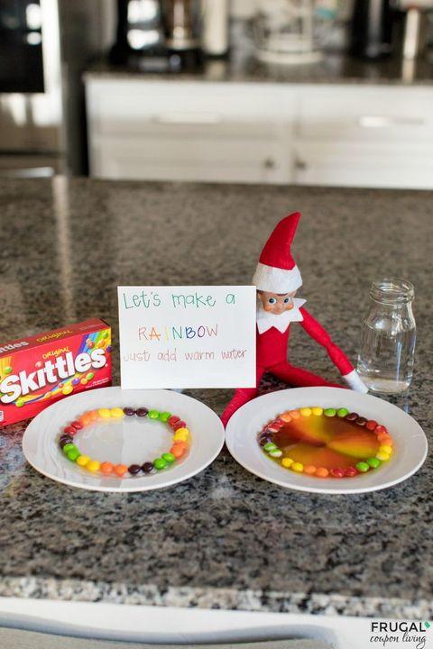 funny elf on the shelf ideas rainbow