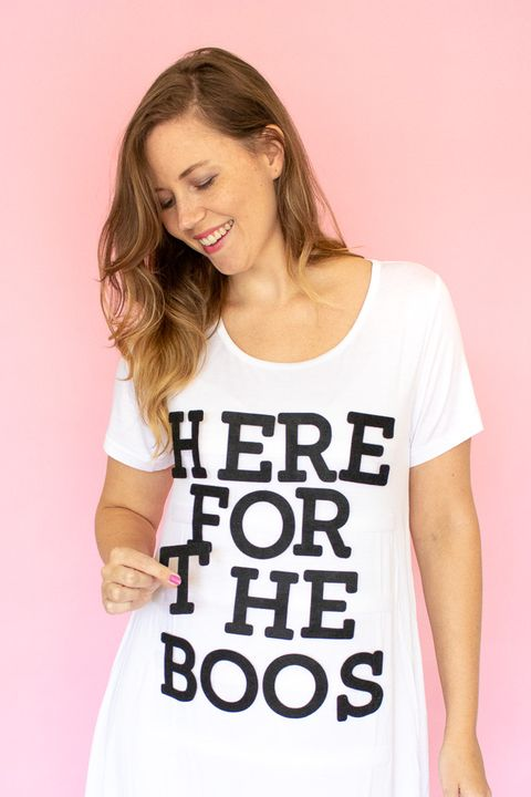 funny halloween costume letter board shirt