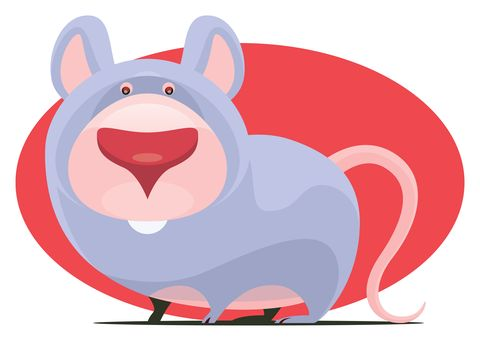 funny mouse character