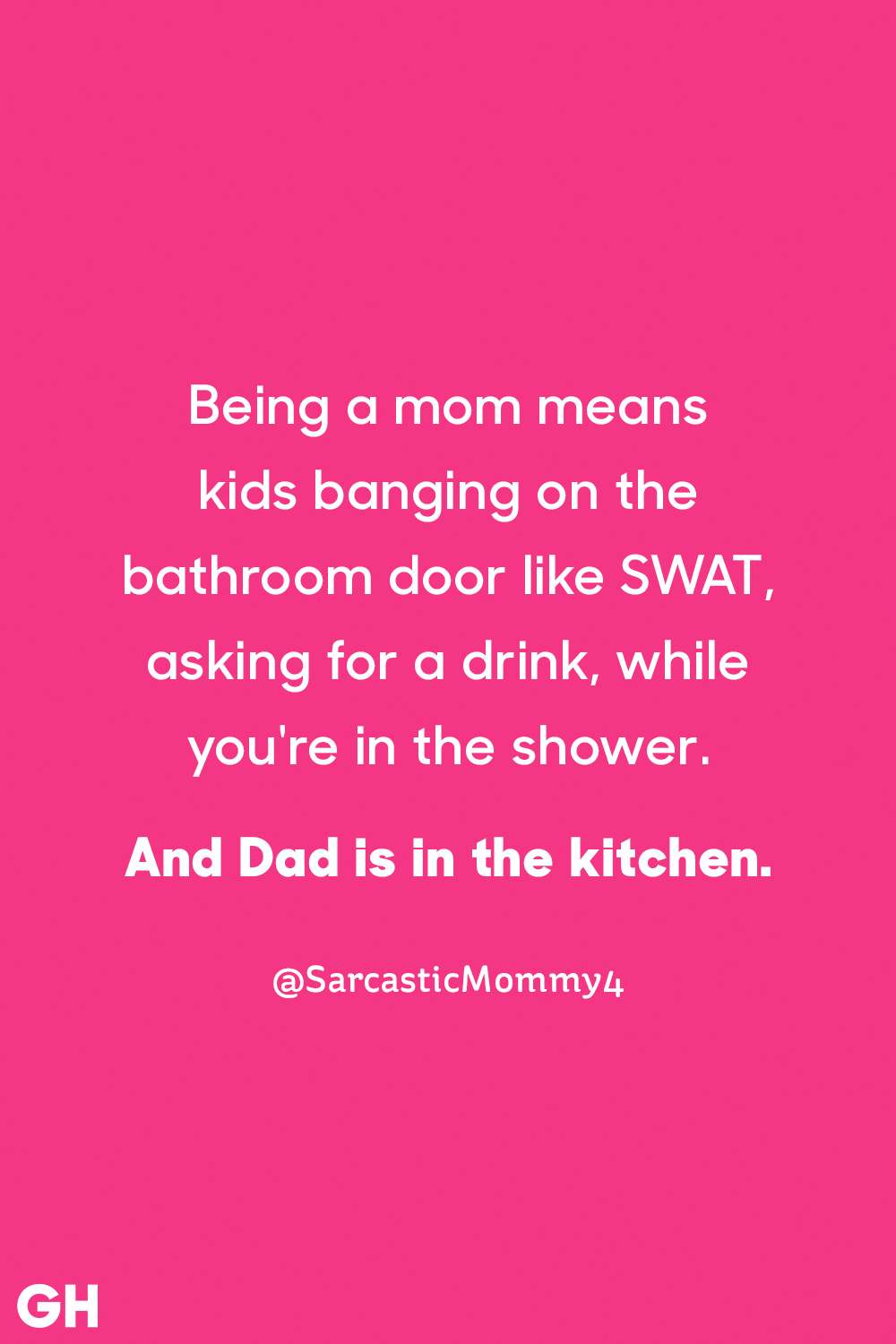 Humorous comparison, the difference between moms upbringing and dads