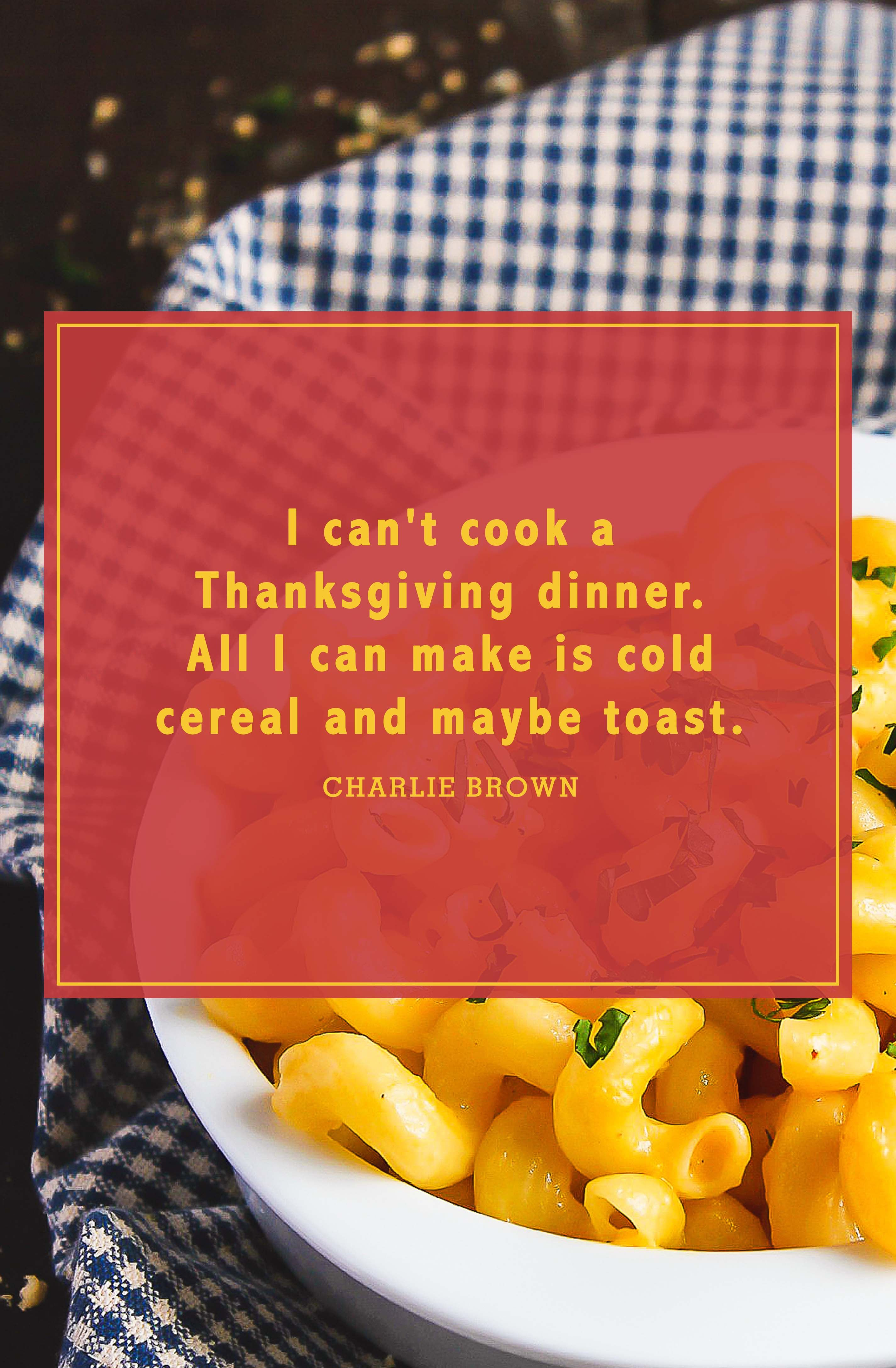 funny thanksgiving quotes charlie brown
