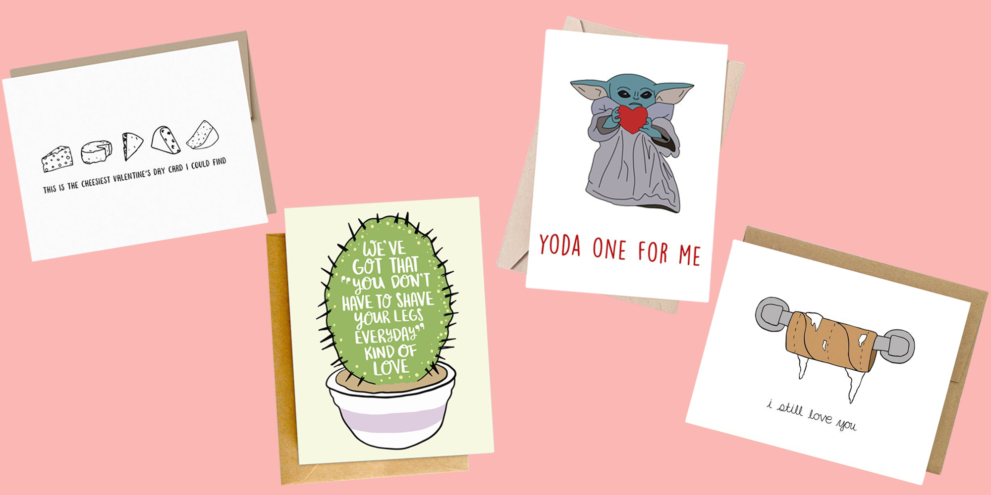 Valentines Day Greeting Card   /'I Would Pick You Every time/' Dog /& Cat