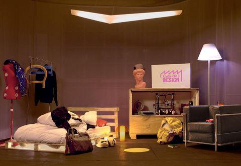 Room, Furniture, Interior design, Bed, Bed sheet, Design, House, Building, Night, Bedroom,