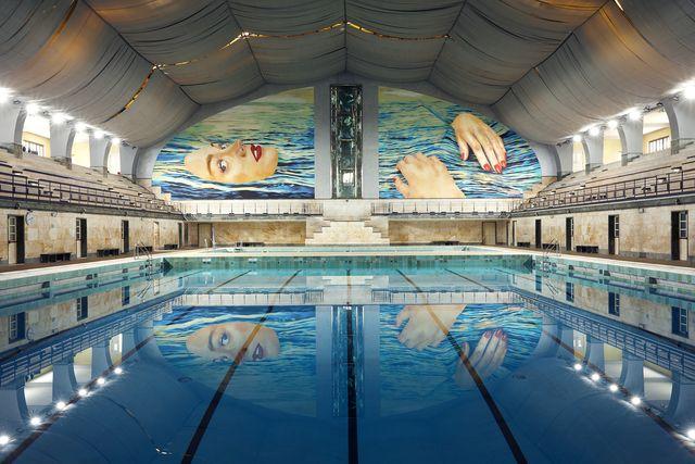 fuorisalone 2021, toiletpaper alla piscina cozzi