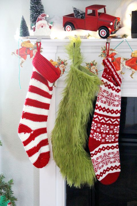 Furry Grinch Stocking