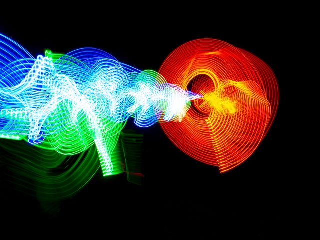 fusion energy in a black background