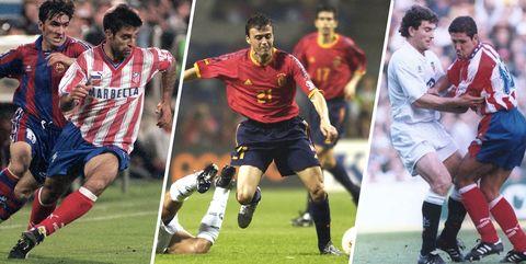 luis entique, roberto solozabal y paco camaresa, futbolistas que ahora son super deportistas
