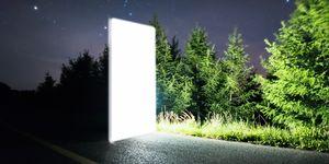 Futuristic Bright Door To Space