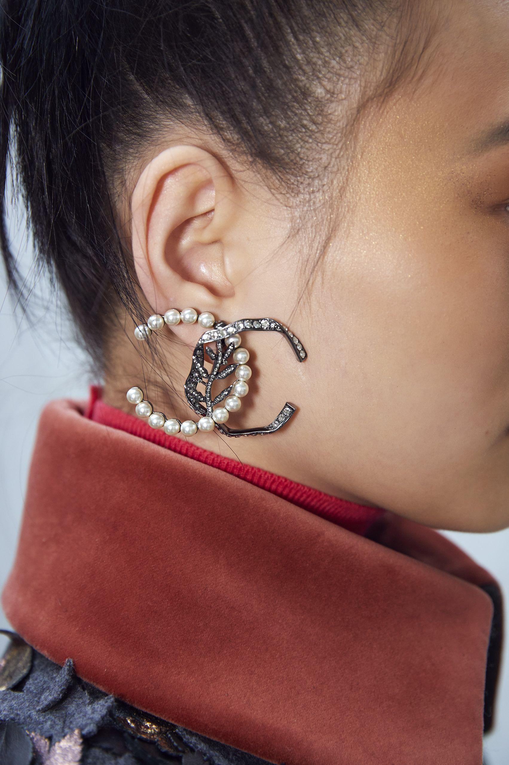 CHANEL, 耳環, 飾品, 2018秋冬時裝週