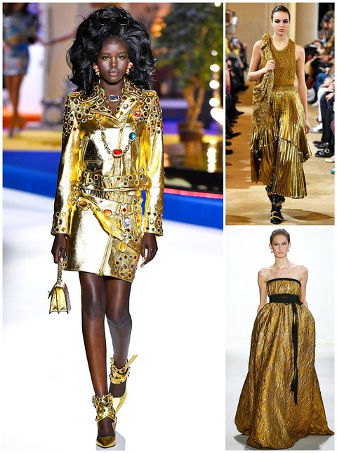 Fashion model, Fashion, Clothing, Runway, Fashion show, Dress, Fashion design, Haute couture, Hairstyle, Yellow,