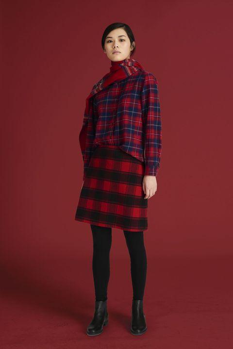 Plaid, Tartan, Pattern, Clothing, Red, Textile, Fashion, Design, Kilt, Standing,