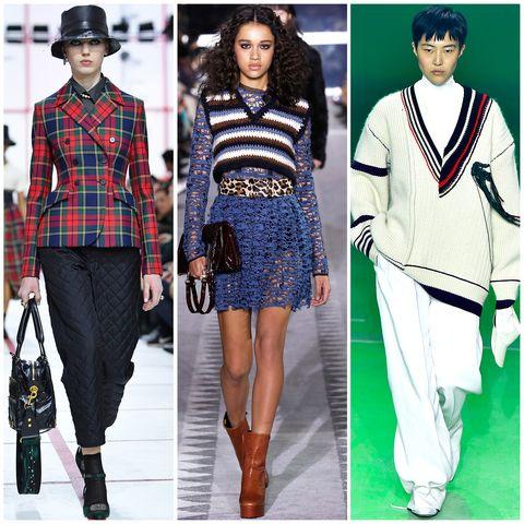 Clothing, Fashion, Fashion model, Plaid, Runway, Tartan, Pattern, Street fashion, Footwear, Design,